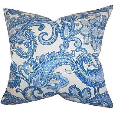 The Pillow Collection Galila Floral Throw Pillow Cover; Blue