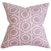 The Pillow Collection Yowanda Geometric Cotton Throw Pillow Cover; Purple