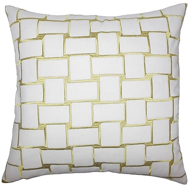 The Pillow Collection Kalyca Geometric Throw Pillow Cover; Peridot