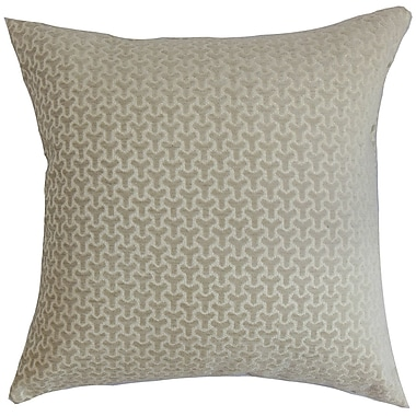 The Pillow Collection Cinquefoil Geometric Cotton Throw Pillow Cover