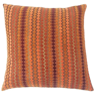 The Pillow Collection Kawena Geometric Throw Pillow Cover; Amber