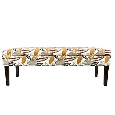 MJLFurniture Kaya Button Tufted Bench; Driftwood