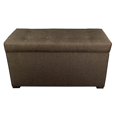 MJLFurniture Angela Sand Storage Trunk Bench; Sand Brown