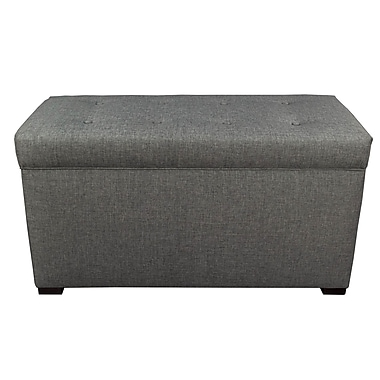 MJLFurniture Angela Sand Storage Trunk Bench; Sand Grey