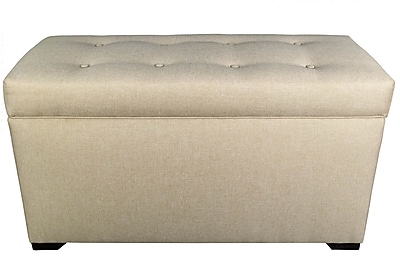 MJLFurniture Angela 8 Button Tufted Storage Trunk