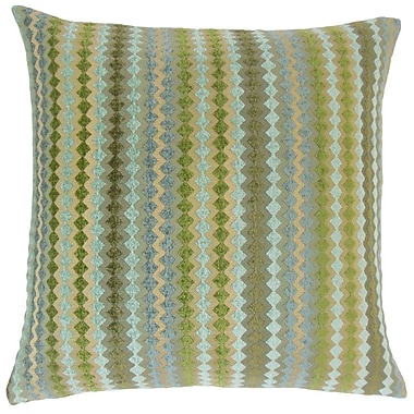 The Pillow Collection Kawena Geometric Throw Pillow Cover; Lake