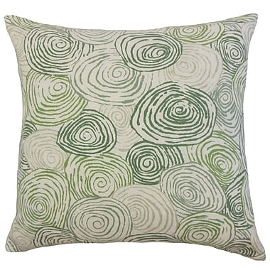 The Pillow Collection Blakesley Graphic Cotton Throw Pillow Cover; Grass