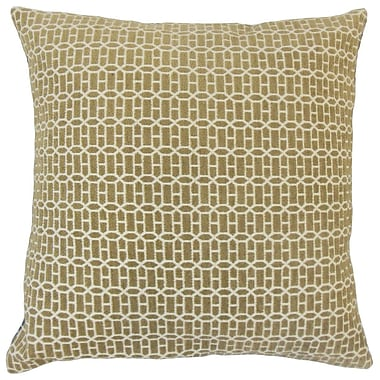The Pillow Collection Yancy Geometric Throw Pillow Cover; Raffia