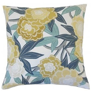 The Pillow Collection Iniabi Floral Throw Pillow Cover