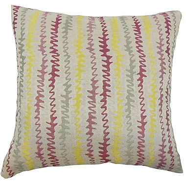The Pillow Collection Malu Zigzag Throw Pillow Cover; Freesia