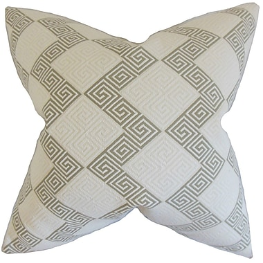 The Pillow Collection Sandrine Geometric Throw Pillow Cover; Iron