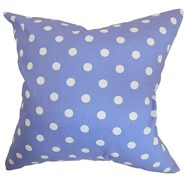 The Pillow Collection Nancy Polka Dots Throw Pillow Cover; Julie White
