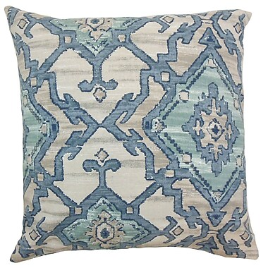 The Pillow Collection Halia Ikat Cotton Throw Pillow Cover