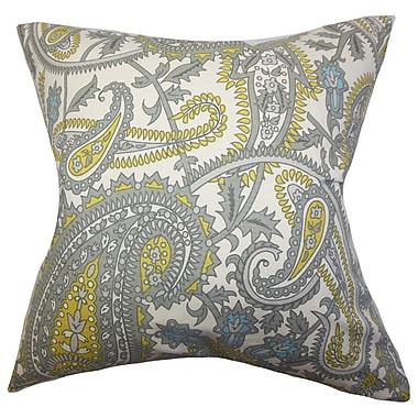 The Pillow Collection Putri Paisley Cotton Throw Pillow Cover