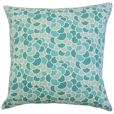 The Pillow Collection Lily Geometric Throw Pillow Cover; Aquamarine
