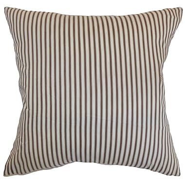 The Pillow Collection Daxiam Stripes Cotton Throw Pillow Cover