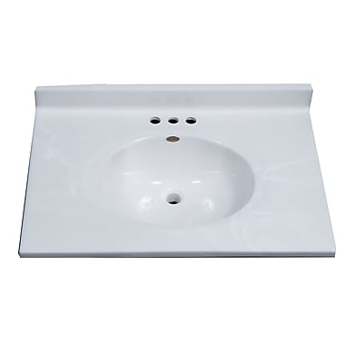 Imperial Classic Center Oval Bowl 31'' Single Bathroom Vanity Top