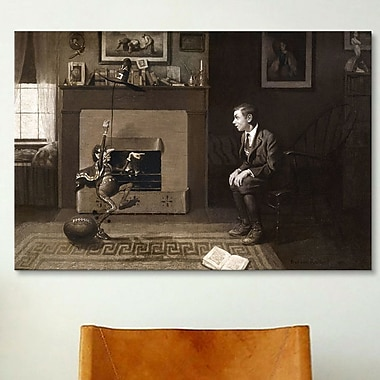 iCanvas 'The Magic Foorball' by Norman Rockwell Painting Print on Wrapped Canvas