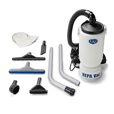 GV New 6 Quart HEPA BackPack Vacuum w/ Proffesional 1.5'' Tool Kit Commercial Restaurant Industrial