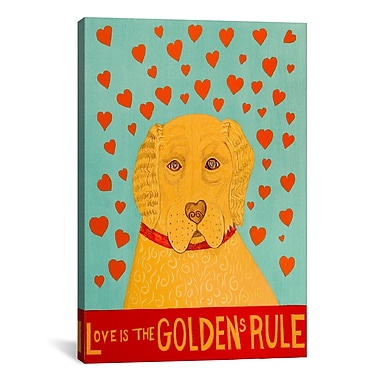 iCanvas Golden Rule 1 by Stephen Huneck Painting Print on Wrapped Canvas; 40'' H x 26'' W x 0.75'' D
