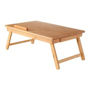 Winsome Flip Top Lap Desk with Drawer and Foldable Legs, Bamboo (80623) by