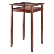 Winsome Halo Pub Table with Tempered Glass Top, Walnut (94127)