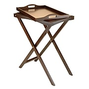 Winsome Folding Butler Tray Table, Antique Walnut (94422)