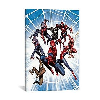 iCanvas Marvel Comics Spider-Men Graphic Art on Canvas; 18'' H x 12'' W x 0.75'' D