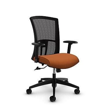 Global Vion High Back Mesh Tilter, Imprint Paprika Fabric (Orange) Black Mesh