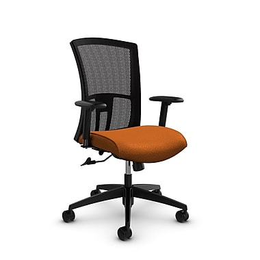Global Vion High Back Mesh Tilter, Match Orange Fabric (Orange) Black Mesh