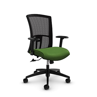 Global Vion High Back Mesh Tilter, Match Green Fabric (Green) Black Mesh