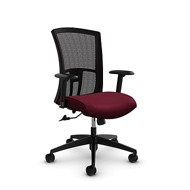 Global Vion High Back Mesh Tilter, Match Burgundy Fabric (Red) Black Mesh