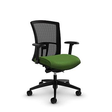 Global Vion Mid Back Mesh Synchro Tilter, Match Green Fabric (Green) Black Mesh