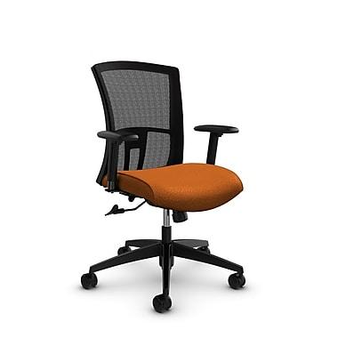 Global Vion Mid Back Mesh Tilter, Match Orange Fabric (Orange) Black Mesh
