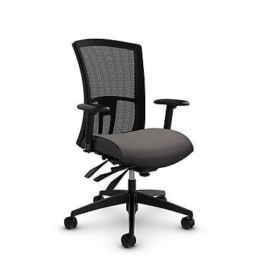 Global Vion High Back Mesh Heavy Duty Multi Tilter, Imprint Graphite Fabric (Grey) Black Mesh