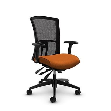 Global Vion High Back Mesh Multi Tilter, Match Orange Fabric (Orange) Black Mesh