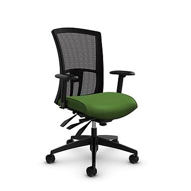 Global Vion High Back Mesh Multi Tilter, Match Green Fabric (Green) Black Mesh