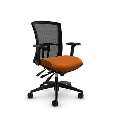 Global Vion Mid Back Mesh Multi Tilter, Match Orange Fabric (Orange) Black Mesh