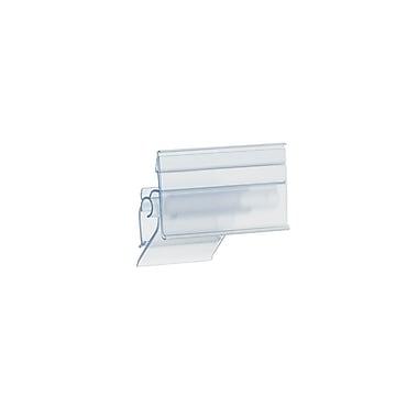 KostklipMD – Petite pince à porte-étiquette ClearVisionMD à angle ajustable, 1,25 x 2,5 po, transparent, 50/paquet (AALB-104195)