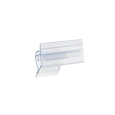 KostklipMD – Grosse pince porte-étiquette à angle ajustable ClearvisionMD, 1,25 x 3 po, transparent, 25/paquet (AALH-104213)