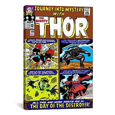 iCanvas Thor Issue Cover 119 by Marvel Comics Graphic Art on Canvas; 18'' H x 12'' W x 1.5'' D