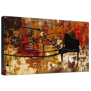 Ashton Wall D cor LLC Trends Keep The Tune Painting Print on Wrapped Canvas