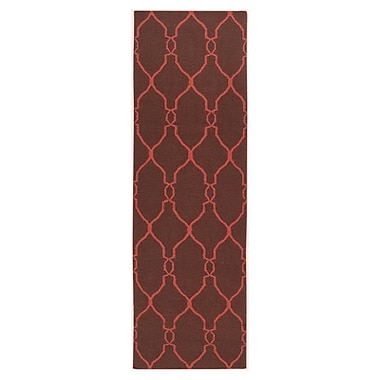 Charlton Home Provincial Brown/Rust Area Rug; Runner 2'6'' x 8'