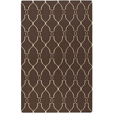 Darby Home Co Lennox Brown/Ivory Area Rug; 9' x 13'