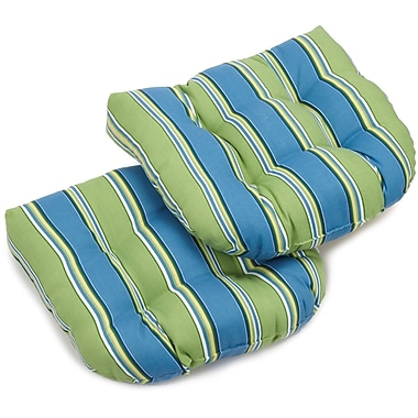 Blazing Needles Haliwell Outdoor Lounge Chair Cushion (Set of 2); Haliwell Caribbean