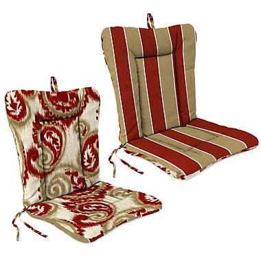 Jordan Manufacturing Outdoor Adirondack Chair Cushion; Wickenburg Cherry /Sorista Cherry