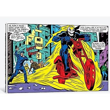 iCanvas Marvel Comics Ghost Rider Panel Graphic Art on Canvas; 12'' H x 18'' W x 0.75'' D