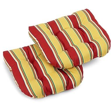 Blazing Needles Haliwell Outdoor Lounge Chair Cushion (Set of 2); Haliwell Multi
