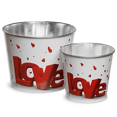 National Tree Co. Assorted Valentine Tin Pots