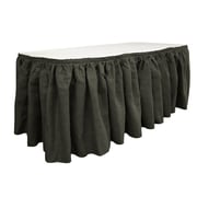 LA Linen Burlap Table Skirt; Black